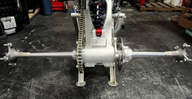RPM Dominator Twin Row Rear Axle Bearing Carrier Honda TRX450R TRX 450R